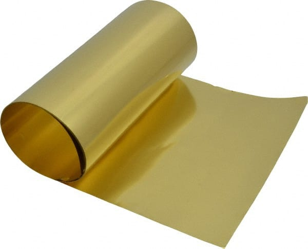 "brass Shim Stock 0.001 Thick 6/"" Width 6/"" long 001 0.001"