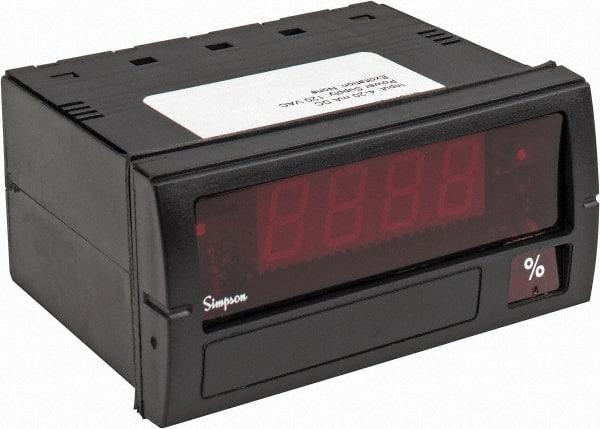 Simpson Electric Panel Meter 0 to 200mVDC Input Range