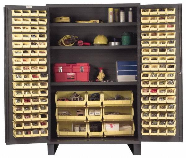 Durham 3 Shelf, 137 Bin Storage Cabinet   Steel, 48