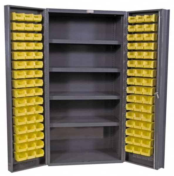 Durham 4 Shelf, 96 Bin Storage Cabinet   Steel, 36