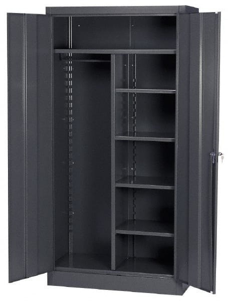 Edsal 5 Shelf Combination Storage Cabinet Steel 36 Wide X 18 Deep 72 High