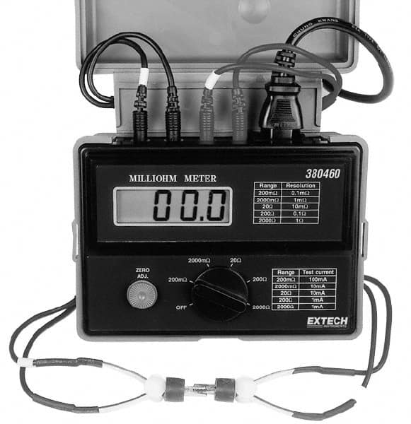 Types Of Electrical Testers : Extech electrical tester mscdirect
