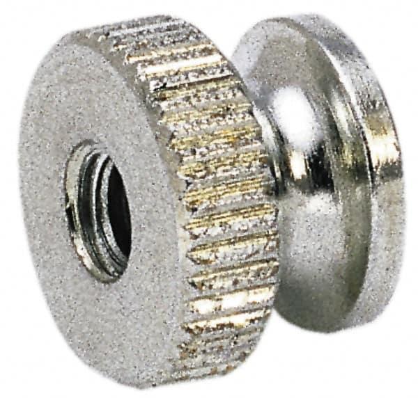 QTY 25 #6-32 Brass Solid Knurled Thumb Nut UNC Decorative