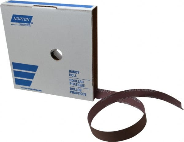 "Norton 1/"" x 50 Yd 600 Grit Aluminum Oxide Cloth Roll Extra Fine Grade J Weig..."