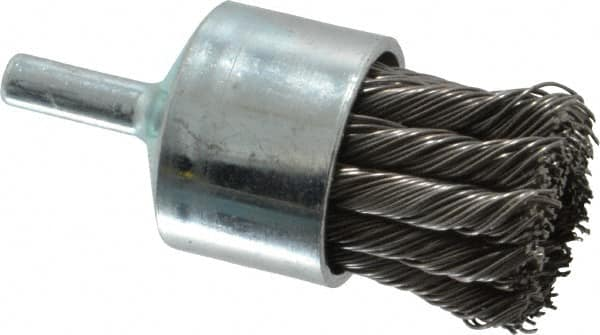 "Weiler 1-1//8/"" Crimped Wire Brush 1//4/"" Shaft 22,000 RPM/'s USA"
