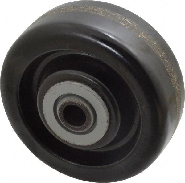 "Plastic caster wheels 8/""x 3//4/""axle no bearings lot of 2 caster wheels"