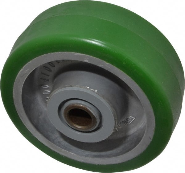 """1 EA 8/"""" x 2/"""" Polyurethane on Plastic Wheel with Bearing"""