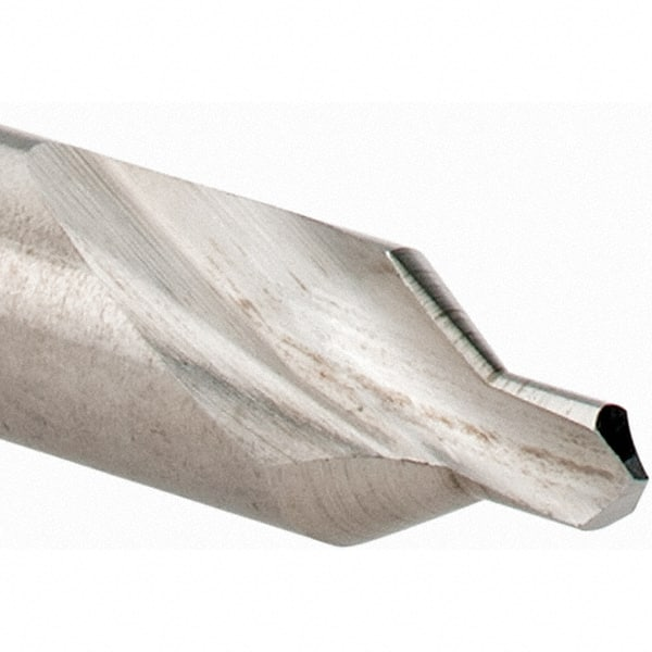 Finish 6 Size Bright 60 Degrees Angle Uncoated 1//2 Body Diameter Drillco 3500E Series High-Speed Steel Center Countersink