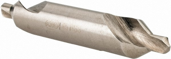 3//16 Pack//12 HSS 60/° Plain Type Combined Drill /& Countersink Keo 10500#5