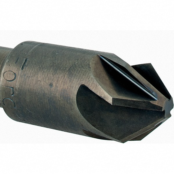 Ford Mfg Co Inc 79201-79-Series High Speed Steel 6-Flute Countersink with a Plain Round 1//2 Shank and M.A