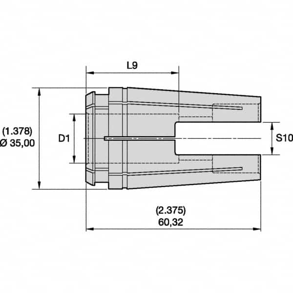 """Details about  /7//32/"""" TG100 SINGLE ANGLE COLLET 3900-1314"""