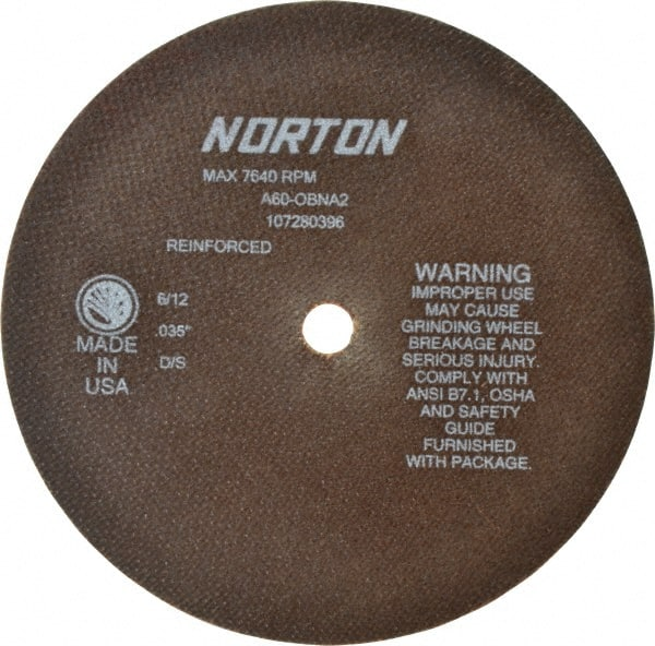 "1... Made in USA 6/"" 60 Grit Aluminum Oxide Cutoff Wheel 0.06/"" Thick 1//2/"" Arbor"
