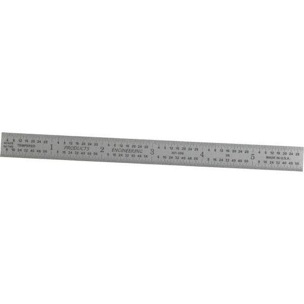 "1//50 1mm Graduation SPI 6/"" Long 1//10/"" and 0.5 Flexible Steel Rule Decimal..."
