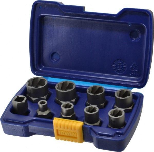 Irwin Hanson 9 Piece Bolt Extractor Set 02108017 Msc Industrial Supply