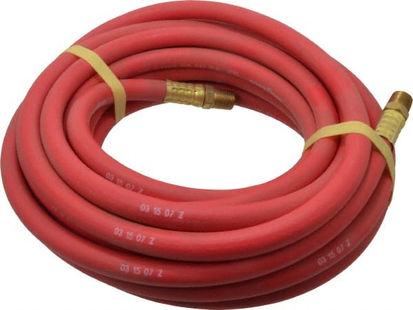 Continental ContiTech 1/4inches X25u0027 1/4npt Red Rubber Ortac Air Hose  20104969