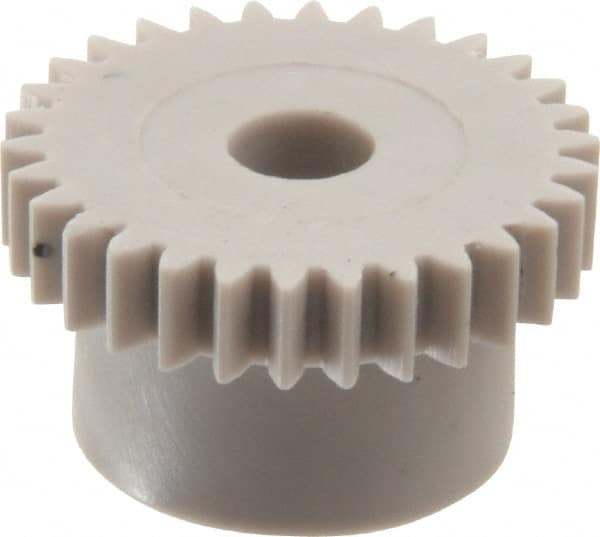 Mfg Code 1-025 0.5 Metric Module Tooth Profile 35 Teeth 4 +//-1mm Pilot Bore 12 mm Hub Diameter 18.5 mm Outside Diameter 3 mm Tooth Face Width, AM0.5B35 Ametric Metric Injection Molded Acetal Resin Spur Gear with Hub 20 Degree Pressure Angle