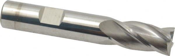 1//2 Diameter 3 Uncoated 4 Flute Carbide End Mill 0.02 Radius Single