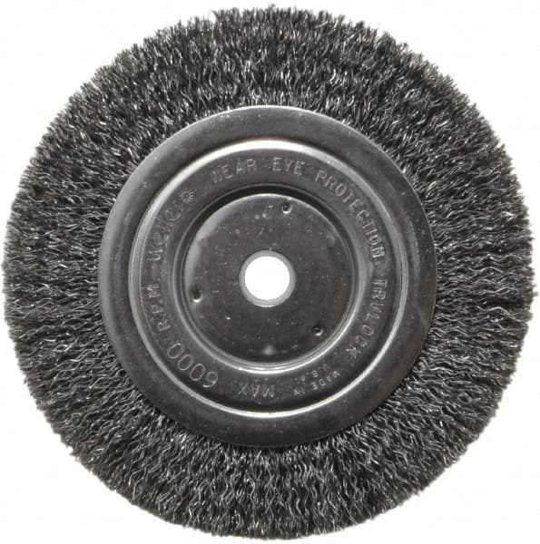 Sensational Weiler 6 Od 5 8 Arbor Hole Crimped Steel Wheel Brush Caraccident5 Cool Chair Designs And Ideas Caraccident5Info