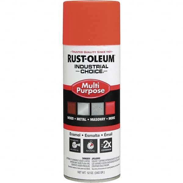 Rust Oleum Fluorescent Orange Gloss Enamel Spray Paint 03688710 Msc Industrial Supply