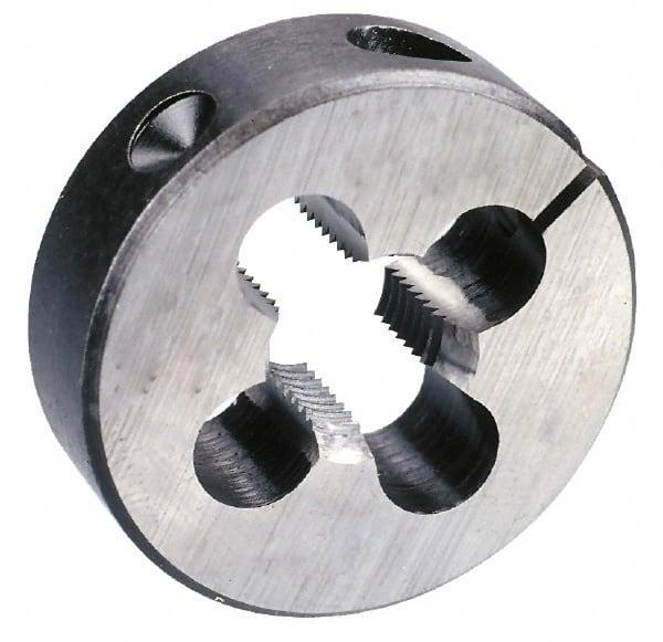 Cle-Line C65221 Carbon Steel Round Adjustable Die 7//16-20 UNF