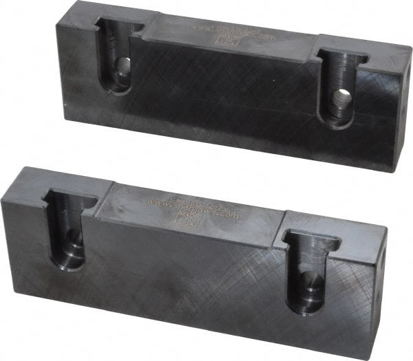 """No Step Vise Jaw Steel Snap Jaws 6/"""" Wide 1-3//4/"""" High x 3//4/"""" Thic... Soft Flat"""