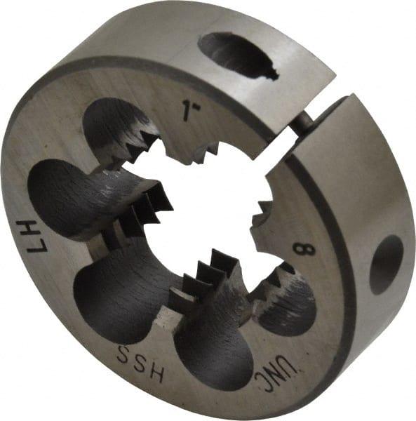 """Left Hand Left Hand Threading Die 1-12 x 2/"""" High Speed Steel"""