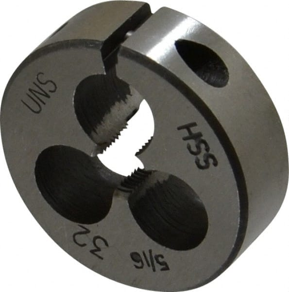 "5//16-18 X 1-1//2/""/"" HIGH SPEED STEEL ROUND ADJUSTABLE DIE"