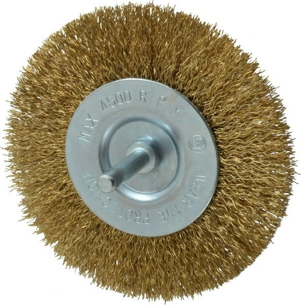 Brass Wire Wheel Brushes   MSCDirect.com
