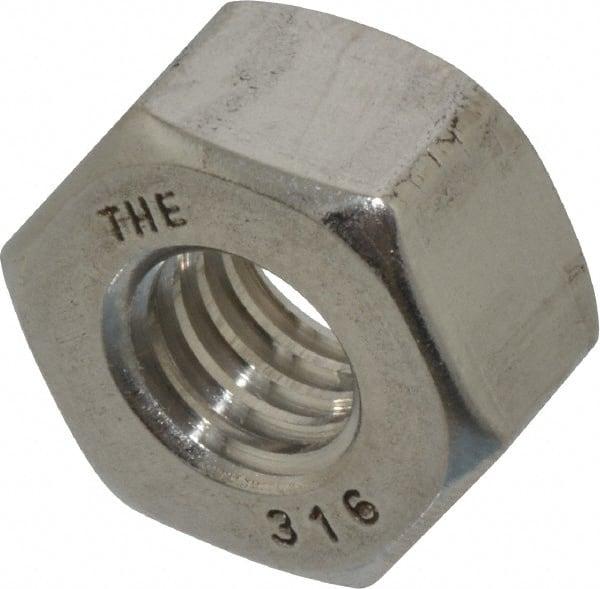 6 Piece Hex Nut VA Stainless Steel Fine Thread M 8 x 1 Flat Nut Din 439