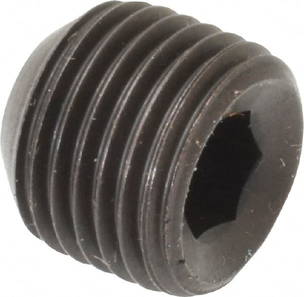 #6-32 Threads 3//4 Length Vented Hex Socket Drive 18-8 Stainless Steel Set Screw Plain Finish Pack of 10 Cup Point