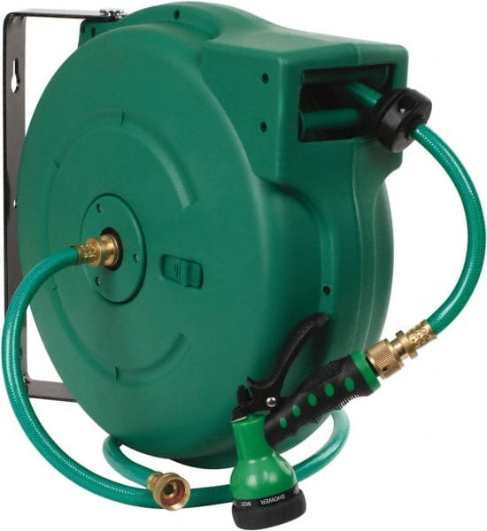 High Quality Value Collection 65u0027 Spring Retractable Hose Reel   140 Psi, Hose Included