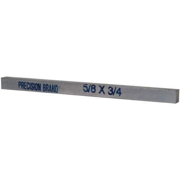 Cold Drawn Steel Plain Finish Precision Brand 04267 Square Metric Keystock 22 mm 1 m Length
