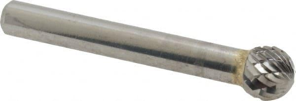 SGS Pro Tool 12503 SD-3 Carbide Bur 3//8 Diameter 1//4 Shank Diameter Double Ball