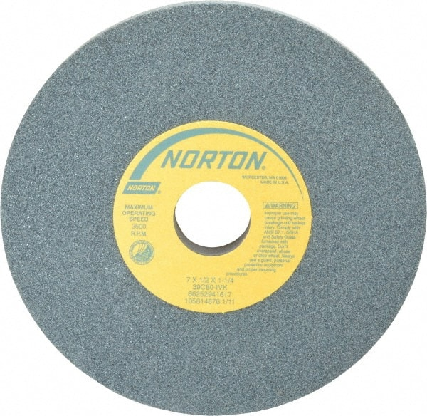 """A//O 80J White Surface Grinding Wheel 6/"""" X 1//2/"""" X 1-1//4/"""" Made In USA NEW"""