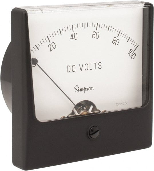 Simpson Electric Panel Meter 1329A0-10 Dcv 4.5 Ul Wv Model 9890