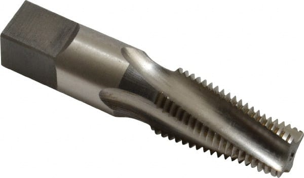 1//16-27 Thread Size TiN Coated Taper Chamfer Round Shank with Square End YG-1 R0 Series Vanadium Alloy HSS Spiral Flute Taper Pipe Tap