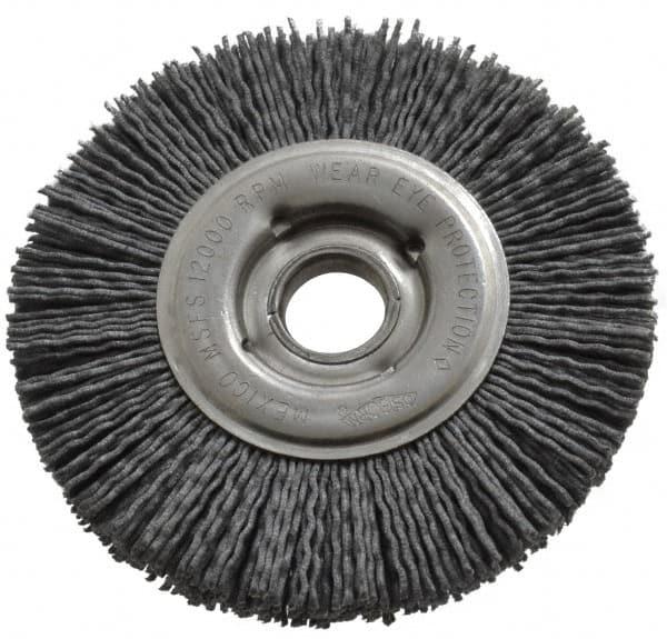 Diameter-4/1//4 Rd Crimped Nylon Abrasive Straight Wheel Arbor Hole ?12