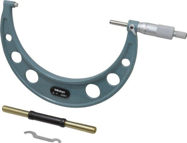 MITUTOYO Micrometer,5-6 In,0.0001,Ratchet 103-220