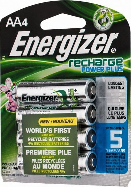 Energizer 4 Qty 1 Pack Size Aa Nimh 4 Pack Standard Battery 06286561 Msc Industrial Supply