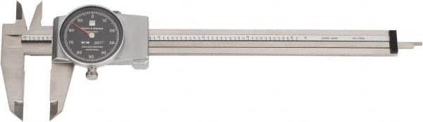 TESA BROWN /& SHARPE 599-579-4 Dial Caliper,6 In,0.001 In Grad,White