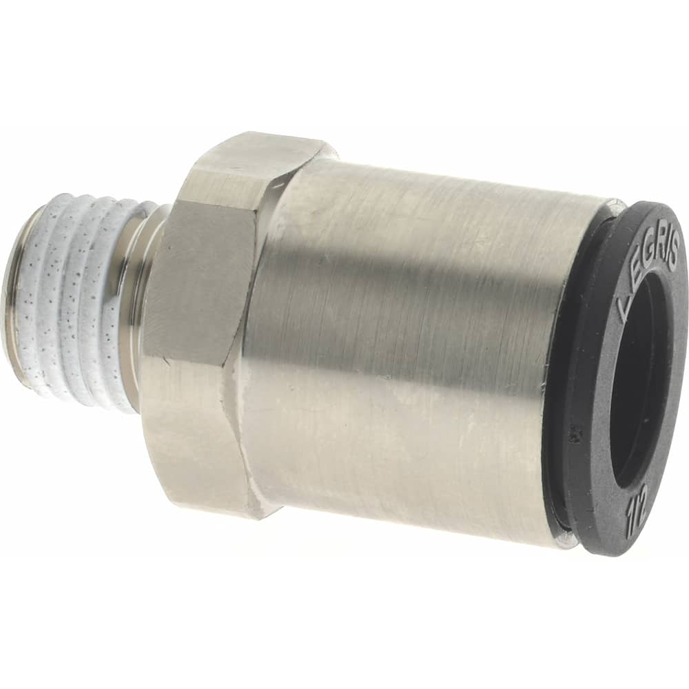 Pack of 2 Metalwork Push to Connect Fitting Adapter 12mm OD x 3//8 NPT Male Straight Connector Plastic /& Nickel Plated Brass