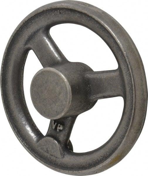 """Gibraltar 6/"""" Cast Iron 3 Spoke Offset Handwheel 1.4/"""" Hub Plain Finish"""