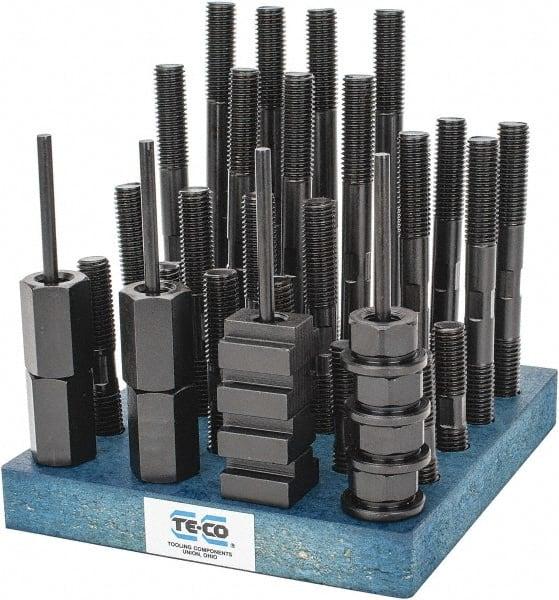 Te-Co 20603 38 Piece T-Nut and Stud Kit 3//8-16 Stud x 1//2 Table T-Slot 3//8-16 Stud x 1//2 Table T-Slot