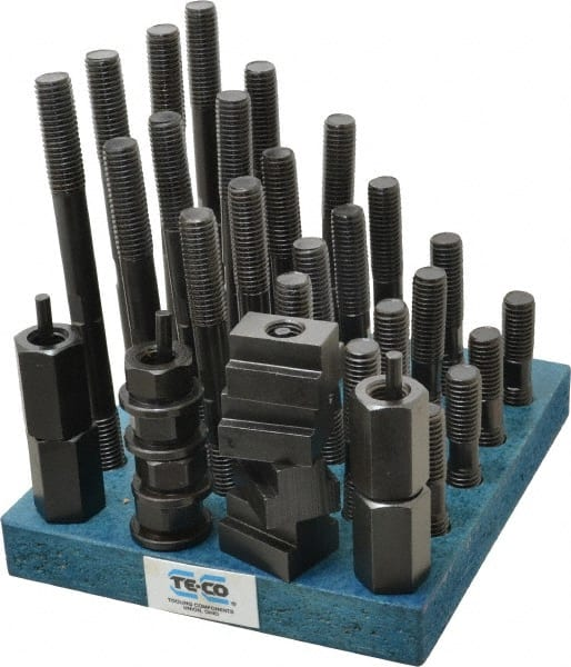 3//4-10 Stud x 7//8 Table T-Slot Te-Co 20612 38 Piece T-Nut and Stud Kit
