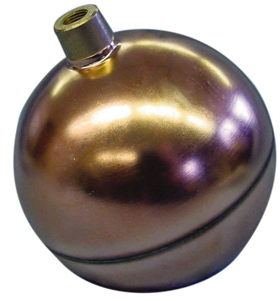 """Made in USA 2/"""" Diam Internal Connection Metal Float 8-32 Thread,... Spherical"""