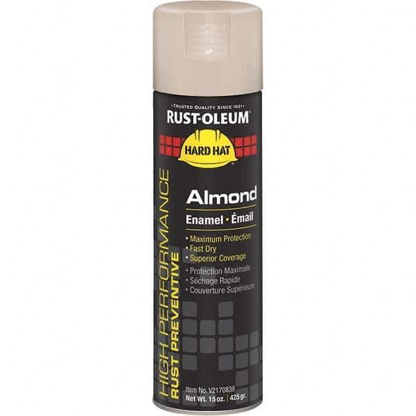Rust Oleum Almond Color 15 Oz Net Fill Gloss Rust Proof Enamel Spray Paint 07806623 Msc Industrial Supply