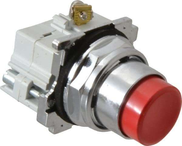 EATON CUTLER HAMMER 10250T31R Extended Red Push Button 1 NO 1 NC Contact Block