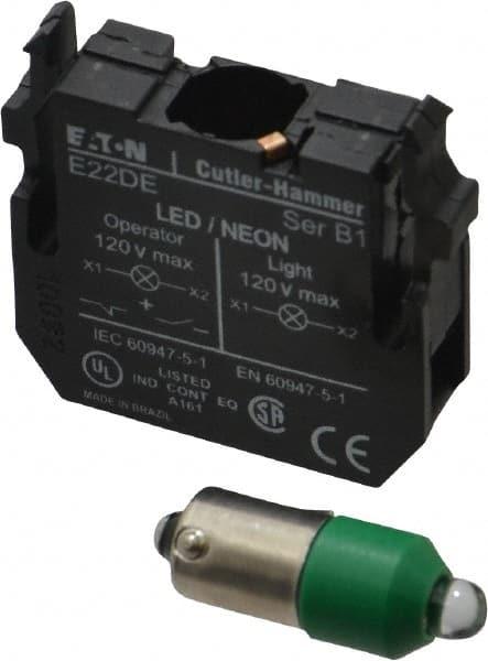 Eaton Cutler-Hammer Green Led Full Votlage C-h 22mm E22 Ind Light E22DL24G  sc 1 st  MSC Industrial Supply & Eaton Led Lighting | MSCDirect.com azcodes.com