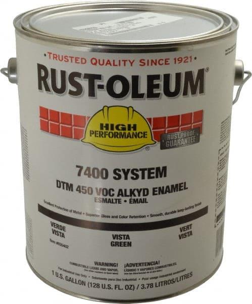 Rust Oleum 1 Gal Vista Green Gloss Finish Industrial Enamel Paint 07836729 Msc Industrial Supply