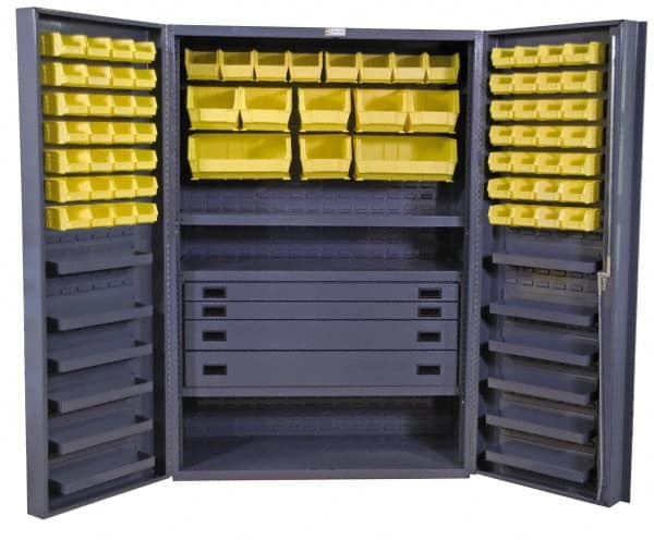 Durham 48inches X24inches X72inches 69 Bins Cabinet W/ Drawers U0026 Bins  DCBDLP694RDR 95